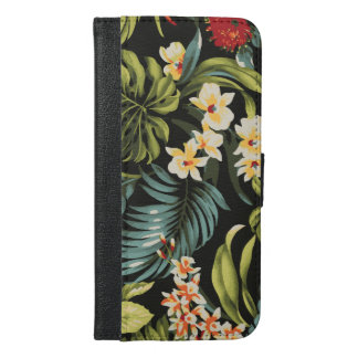 Colourful Hawaii Flowers Design iPhone 6/6s Plus Wallet Case