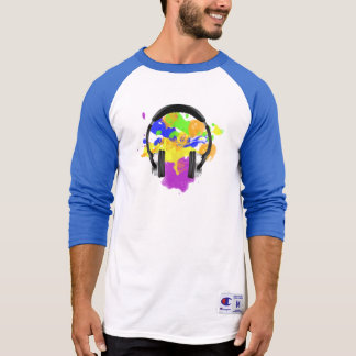 Colourful Headphones T-Shirt