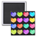 Colourful Hearts Refrigerator Magnets
