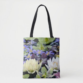 Colourful hellebores flowers tote bag
