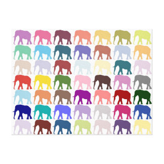 Colourful Herd Canvas Print