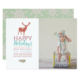 Colourful Holidays | Photo Holiday Card