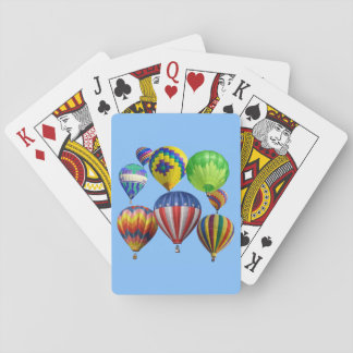 Colourful Hot Air Balloons Playing Cards