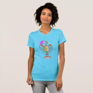 Colourful Lobster Bright Blue Summer T-Shirt