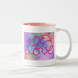 Colourful Love coffee cup