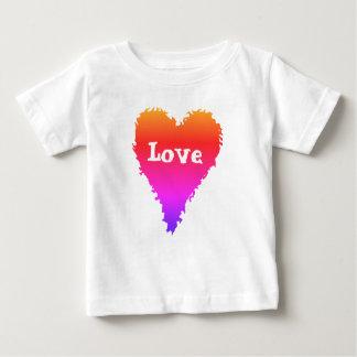 Colourful love heart baby T-Shirt