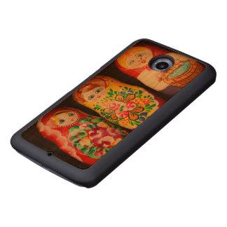 Colourful Matryoshka Dolls Wood Phone Case