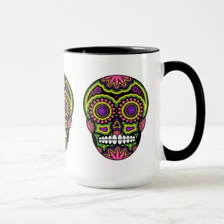 Colourful Mexican Sugar Skull Day Of The Dead Mug