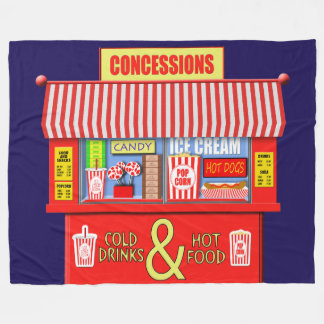 Colourful Movie Theatre Concessions Stand Fleece Blanket