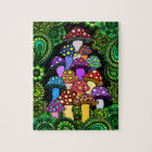 Colourful Mushrooms Jigsaw Puzzle