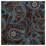 Colourful Paisley Monogram Brown CPM Fabric