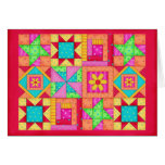 Colourful Patchwork Quilt Art Stationery