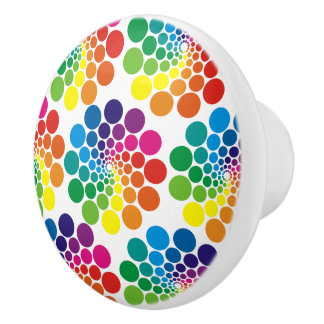 Colourful Points & Circle Pattern + your Ceramic Knob
