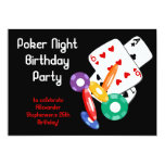 Colourful Poker Chips Party Invitation 13 Cm X 18 Cm Invitation Card