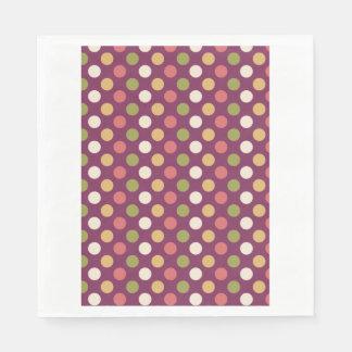 Colourful polkadots disposable napkin