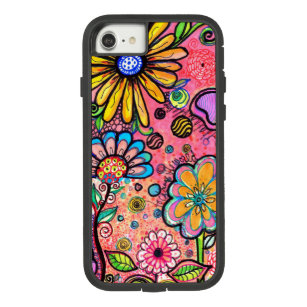 Colourful Psychedelic Flower Drawing Case-Mate Tough Extreme iPhone 8/7 Case