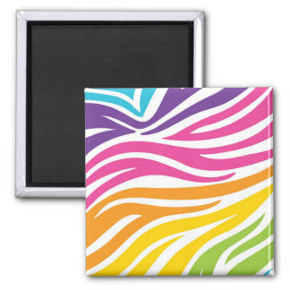 Colourful Rainbow Zebra Print Pattern Gifts Magnet