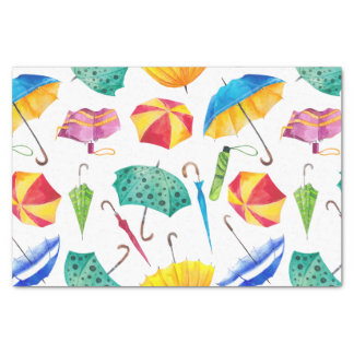 Colourful Rainy Day Tissue Paper