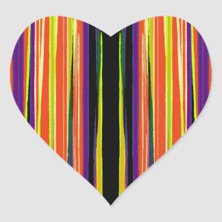 Colourful ripped paper pattern heart sticker