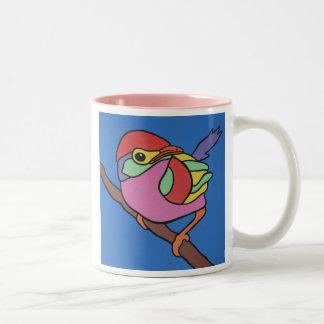 Colourful Robin Two-Tone Coffee Mug