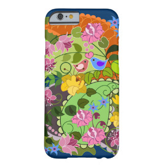 Colourful Romantic faux Vintage Floral & swirls Barely There iPhone 6 Case