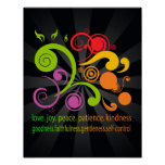 Colourful Shapes, Fruit of the Spirit Poster