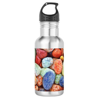 Colourful Stones - River Rocks Painting 532 Ml Water Bottle