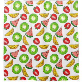 Colourful Summer Fruit Shower Curtain