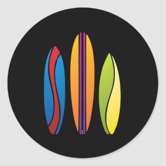 Colourful Surfboards Stickers