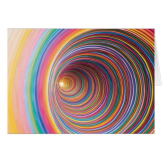 Colourful swirls greeting card