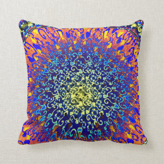 Colourful Textured Look Hearts Design Pillow