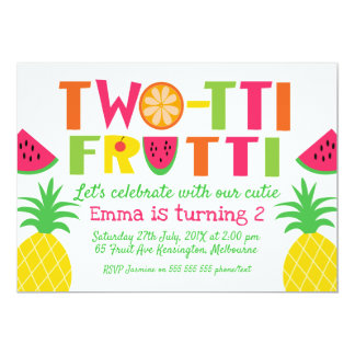 Colourful Two-tti Frutti Birthday Invitation