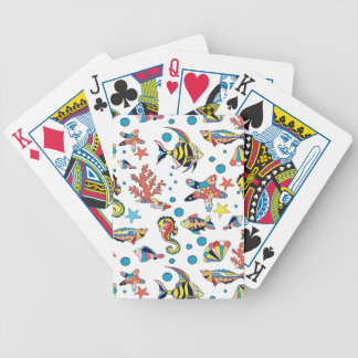 Colourful Underwater Sea Life Pattern Bicycle Playing Cards