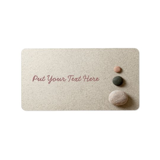 Colourful Zen Stones On Sand Background Address Label