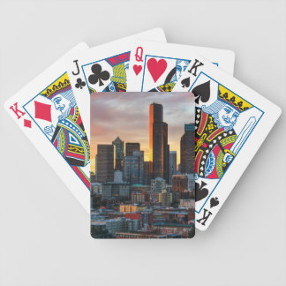 Columbia center and downtown Seattle, Seattle Bicycle Playing Cards