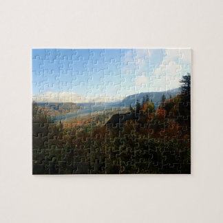 Columbia River Gorge in Autumn Jigsaw Puzzle