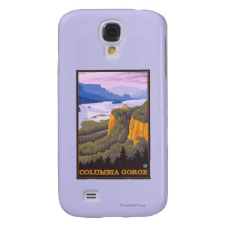 Columbia River Gorge Scene with Crown Point Galaxy S4 Case