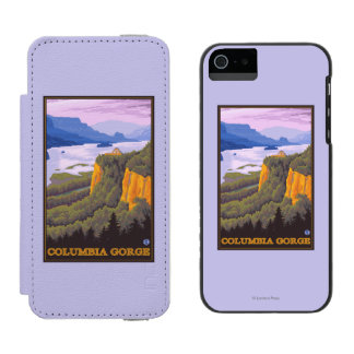 Columbia River Gorge Scene with Crown Point Incipio Watson™ iPhone 5 Wallet Case