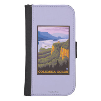Columbia River Gorge Scene with Crown Point Samsung S4 Wallet Case