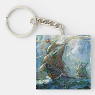 Columbus Day Key Ring