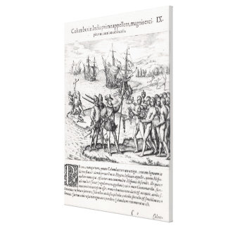 Columbus in What Was First Called India Canvas Print
