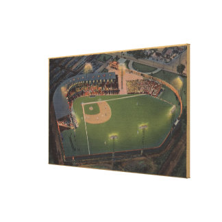 Columbus, OH - Aerial of Red Bird Baseball Canvas Print
