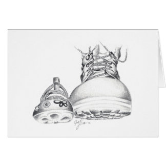 Combat boots and Mary Janes Card