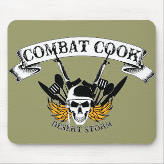Combat Cook - Desert Storm Mouse Pad