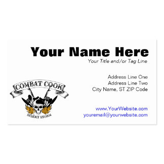 Combat Cook - Desert Storm Pack Of Standard Business Cards