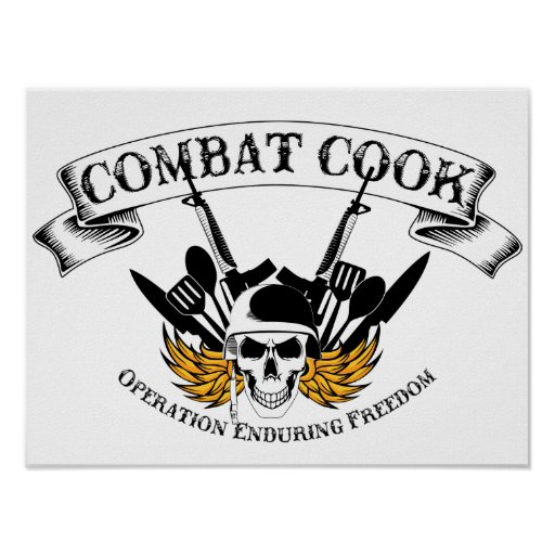 Combat Cook - OEF Posters