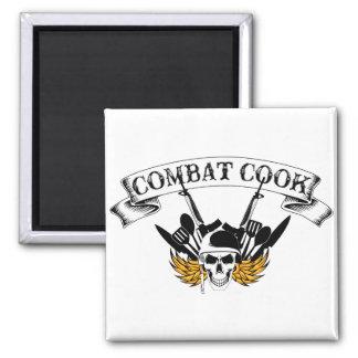 Combat Cook Square Magnet