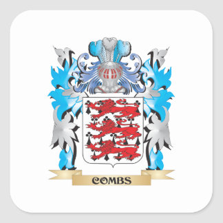 Combs Coat of Arms - Family Crest Square Sticker