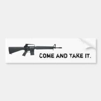 Come And Take It AR Bumper Sticker