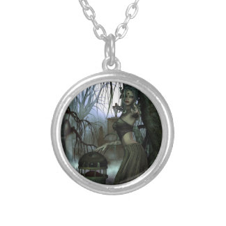 """Come Hither..."" Art Print Silver Plated Necklace"
